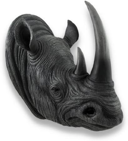 Things2Die4 Realistic Rhinoceros Head Wall Mounted Sculpture