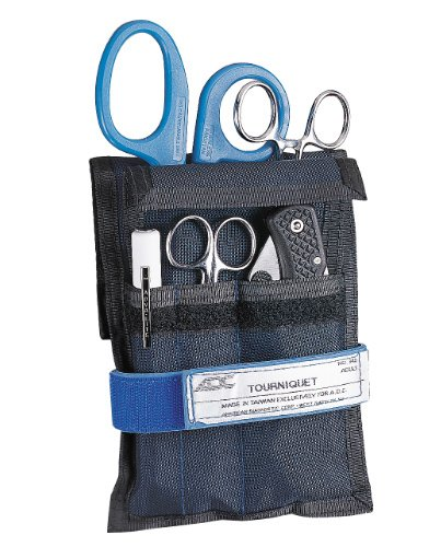 ADC 104BKE Lightweight Responder Holster Set Includes Responder Holster, Kelly Straight Forceps, Medicut Shears, Adlite Disposable Penlight, Lister Bandage Scissors, Adult Adjustable Tourniquet and Knife, Black