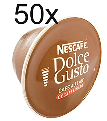 50 x Nescafe Dolce Gusto Café Au Lait Decaffeinated- Coffee Capsules