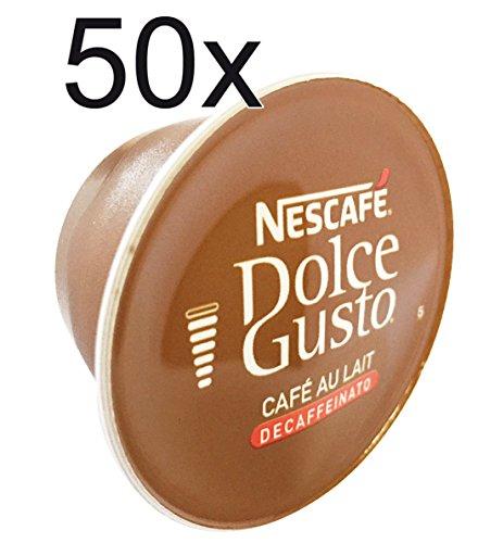 50 x Nescafe Dolce Gusto Café Au Lait Decaffeinated- Coffee Capsules