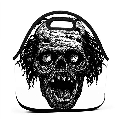 Portable Lunch Bag Carry Case Tote Container Bags,Zombie