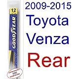 2009-2015 Toyota Venza Wiper Blade (Rear) (Goodyear Wiper Blades-Hybrid) (2010,2011,2012,2013,2014)