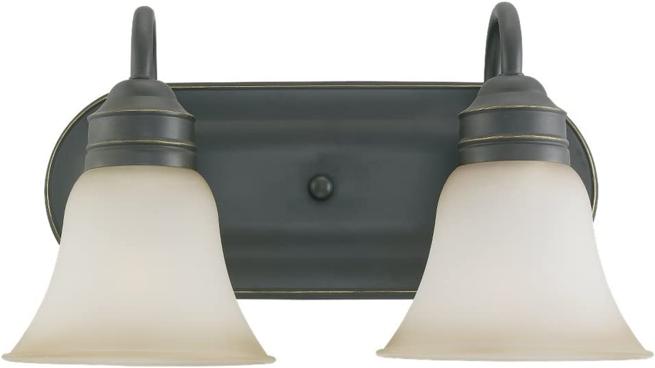 Sea Gull Lighting 44851-782 Bath Vanity with Smokey Amber Glass Shades, Heirloom Bronze Finish