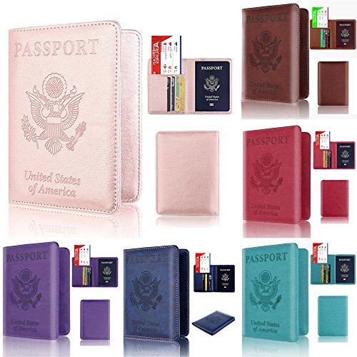 Duseedik Promotion# Leather Passport Holder Wallet Cover Case RFID Blocking Travel Wallet