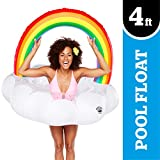 BigMouth Inc. Giant Inflatable Magical Pool Float with Glitter Inside, Patch Kit Included, Swim Innertube (Giant Rainbow)