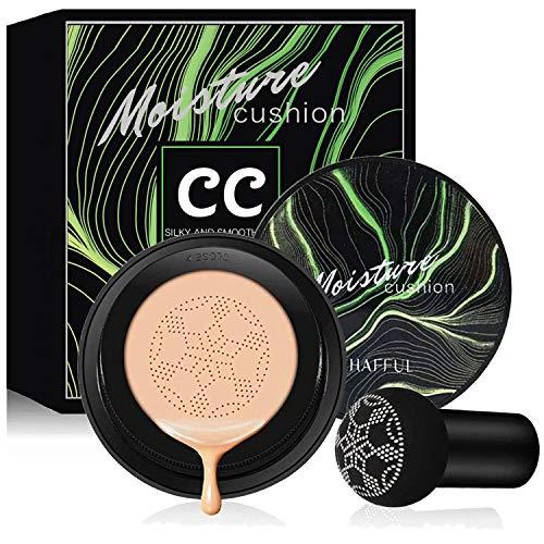 Air Cushion CC Cream Mushroom Head Foundation, Firstfly Moisturizing BB Cream Makeup Long Lasting Matte Concealer…