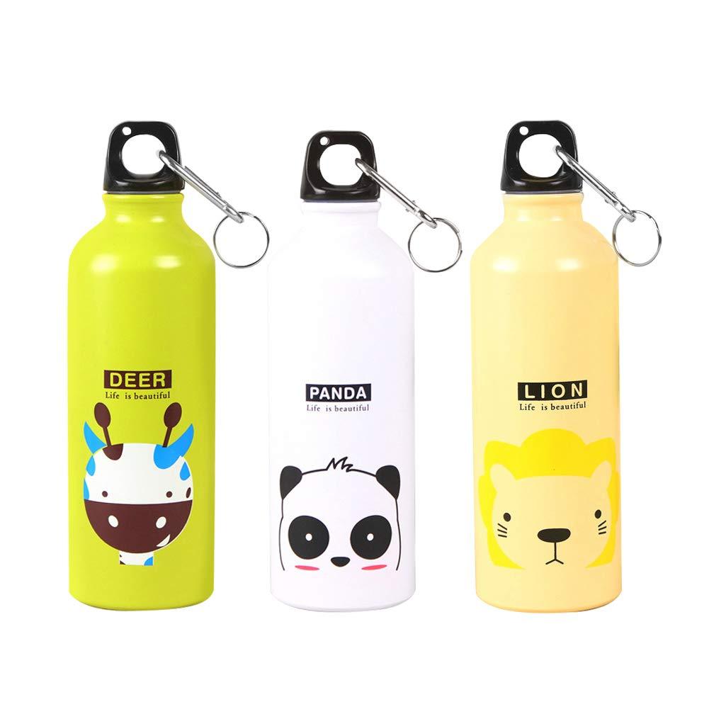 Botella de agua de aluminio con dibujo de animal ...
