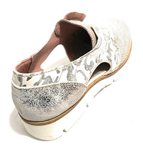 Mocassins Silver Femme Pour crack Clocharme Silver Grigio Floreale stampa TqOqx7d