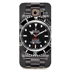 Custom Design Artistic style Rolex watch pattern customized 3d hard plastic case rel15 for Samsung Galaxy S6edge