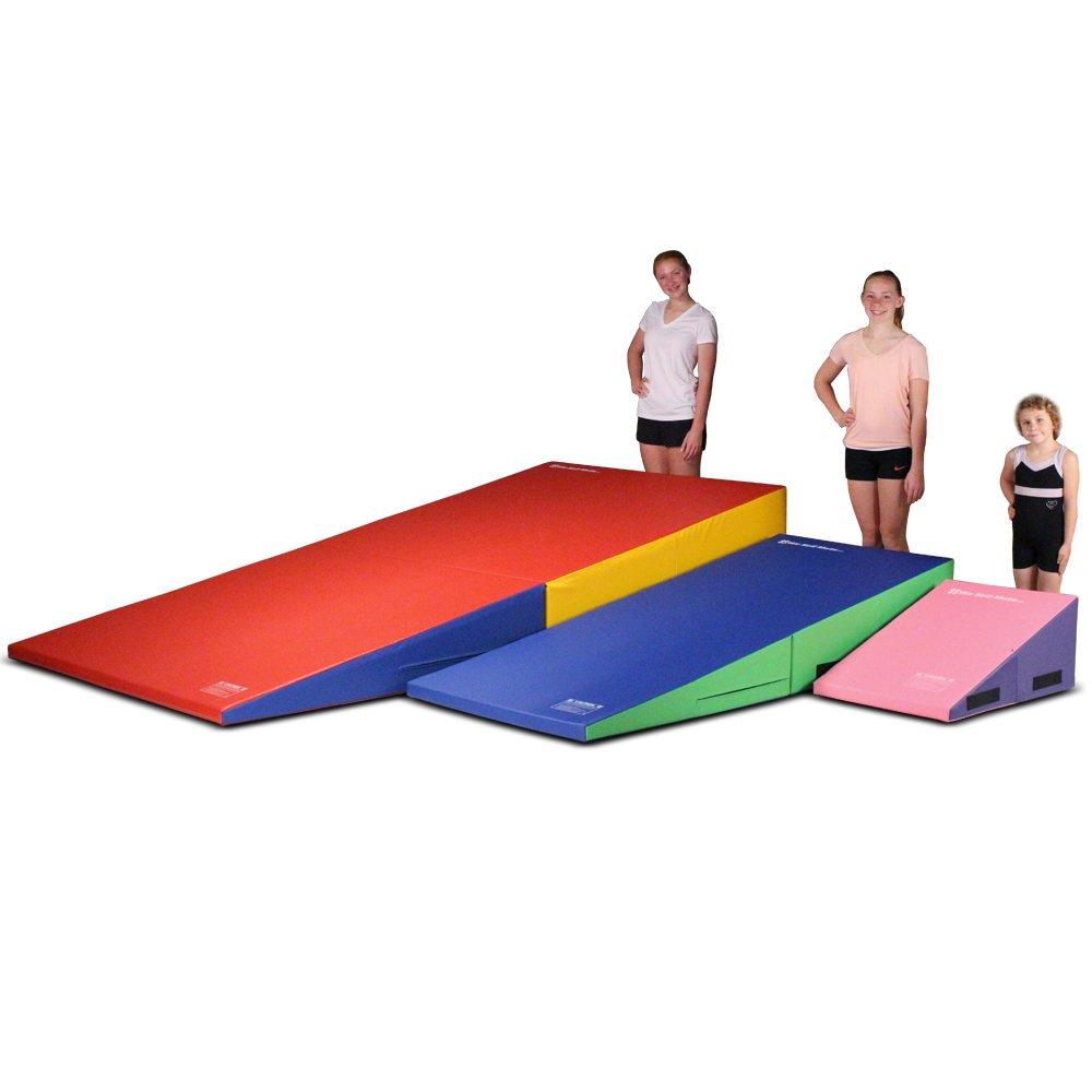 We Sell Mats Gymnastics Folding Incline Cheese Wedge Shape Mat, Medium (60'' x 30'' x 15'')
