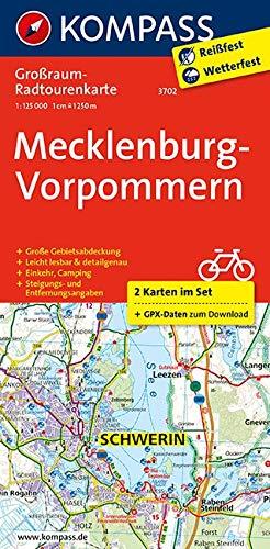 Mecklenburg-Vorpommern: Großraum-Radtourenkarte 1:125000, GPX-Daten zum Download (KOMPASS-Großraum-Radtourenkarte, Band 3702) Landkarte – Folded Map, 3. Mai 2018 KOMPASS-Karten GmbH 3990440640 Karten) Karte; Radkarte