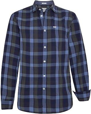 Camisa Pepe Jeans Harry Gris/Azul Hombre M: Amazon.es: Zapatos y complementos