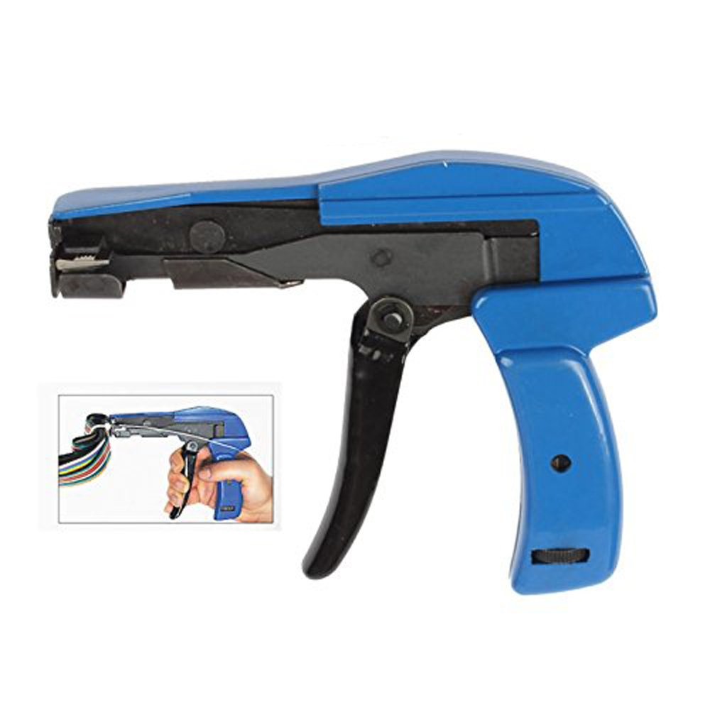 LUBAN Cable Tie Gun Fastening and Cutting Tool for Nylon Cable Tie