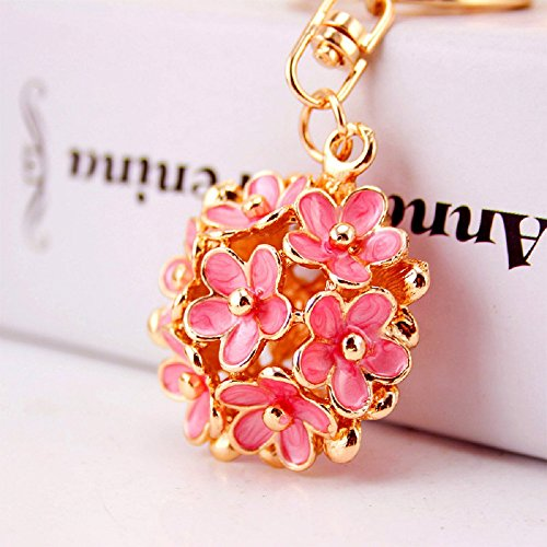 CHMING Fashion Little Daisy Flower Keychain Purse Bag Pendant Keychain Womans Handbag Charm