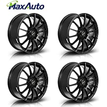 "Wheels Rims 17"" 17X7 Inch +45 mm Offset 5x100 / 5x114.3 mm 73.1 mm Hub Bore Matt Black Wheels Rims (4)"
