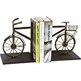 """Trademark Innovations BOOKNDS-BCYCLE 8"""" Metal Bicycle Bookends Set-Vintage Style"""