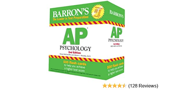 Amazon com: Barron's AP Psychology Flash Cards, 2nd Edition