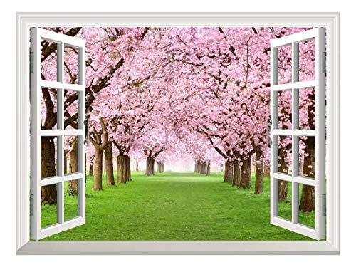 Peel and Stick Wallpapaer Collage Removable Large Wall Mural Creative Wall Decal ( Cherry Blossom)