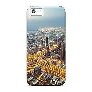 OuGbX1586IeIio Michorton View From Burj Khalifa Dubai Durable Iphone 5c Tpu Flexible Soft Case