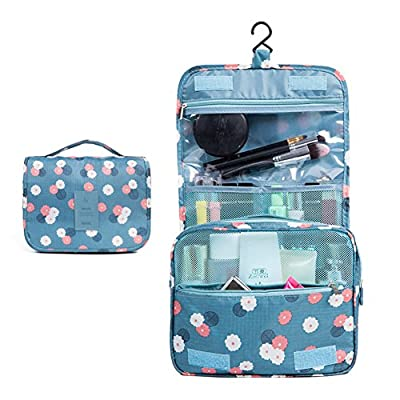 6ebcf2cda1 Hoxekle Lovely Waterproof Hanging Toiletry Bag for Travel Cosmetic Makeup  Organizer Bag for Women Girls Multifunction