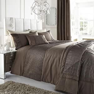 Taupe / Biscuit Brown Super King Size Duvet/Quilt Cover with ... : brown quilt cover - Adamdwight.com