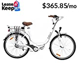 EVELO Luna Electric Bike with NuVinci N360 Drivetrain & 250W Mid-Drive Motor, White
