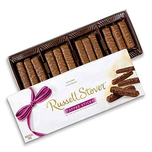 Russell Stover Milk Chocolate Toffee Sticks, 10.5 oz. Box