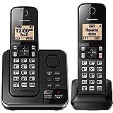 Panasonic KX-TGC362B Dect 6.0 2 Handset Landline Telephone (Certified Refurbished)