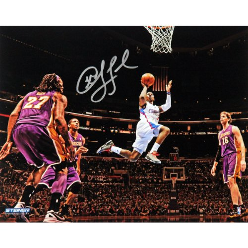 NBA Los Angeles Clippers Chris Paul Layup Against Lakers Wide Angle Signed Photo by Steiner Sports