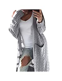 Women Winter Long cardigan Loose Knitted Sweater Jumper Coat Tops