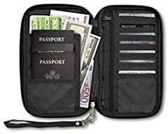Perfect for keeping you organized , and has room for all of your valuable gear and important documents . Space for multiple passports , many slots for credit cards and photo ID , a zippered pocket for cash , room for a boarding pass and even ...