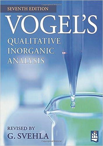 Vogels Qualitative Inorganic Analysis 7th Edition G Svehla