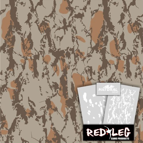 Redleg Camo 3 Piece Duck Grass Camo Stencil Kit (Natural Gear)