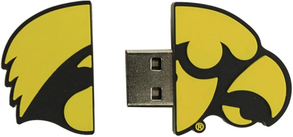 Flashscot NCAA Iowa Hawkeye Logo Shape USB Drive