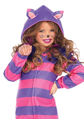 Leg Avenue Children's Wonderland Cheshire Cat Cozy Costume, Pink/Purple;Small(4/6) (Cheshire Cat Costume Alice In Wonderland)