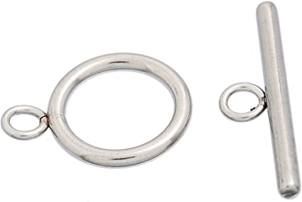 10Sets Stainless Steel Toggle Clasps Connectors Silver Tone