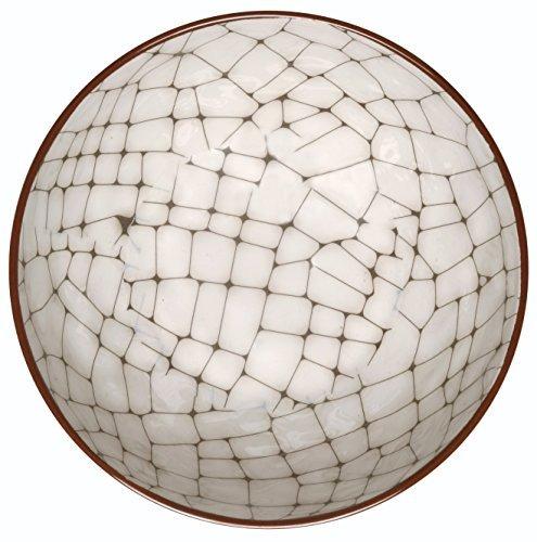 Melange 6-Piece 100% Melamine Bowl Set (Hammered Checks Collection ) | Shatter-Proof and Chip-Resistant Melamine Bowls | Color: Cement