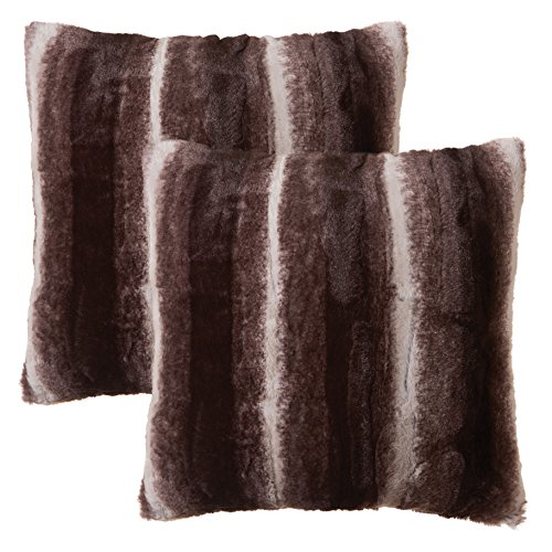 North End Decor Faux Fur 2-Pack 18