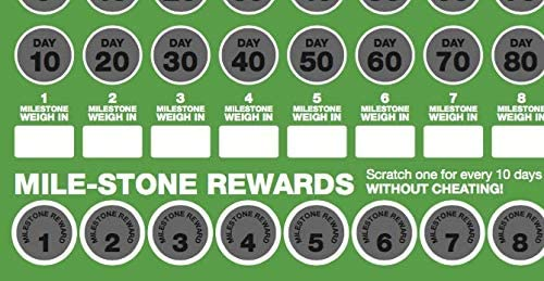 100 Day Keto Challenge Scratch Off Poster. The Perfect Planner for Keto Diet Made Easy with This Friendly Tracker Chart. Keto Accessories to Help You Lose Fat on LCHF Diets. 7