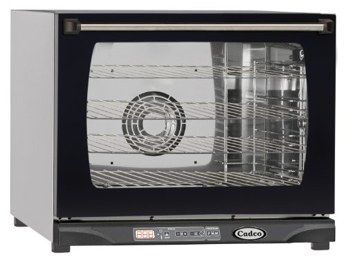 Cadco XAF-130 Half Size Convection Oven with Digital Classic Controls, 208-240-Volt/2700-Watt, Stainless/Black
