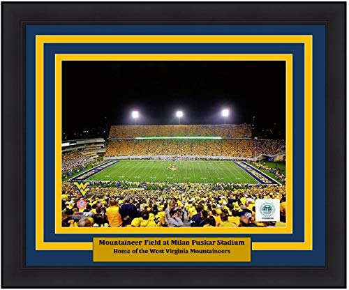 "University of West Virginia Milan Puskar Stadium 8"" x 10"" Framed and Matted College Football Photo"