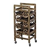Nationwel@ Beauty Salon Trolley Five Floors Retro Plating Hairdressing Manicure Tool Trolley (Color : #1)