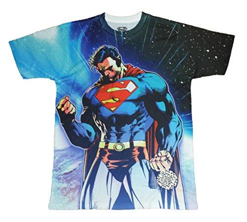 2 Sided Graphic T-shirt (DC Comics Superman Man of Steel Two Sided Licensed Graphic T-Shirt - Small)