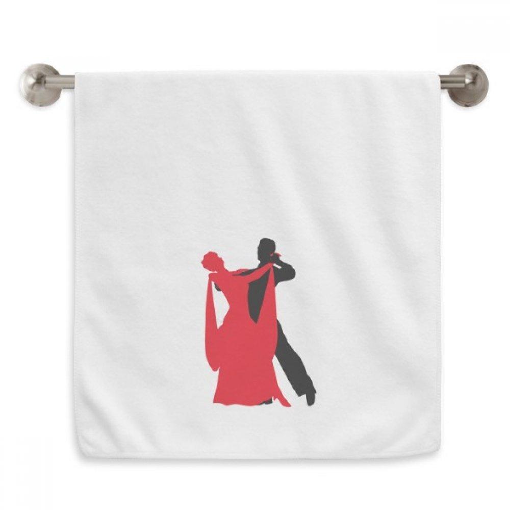 Social Dancing Duet Dance Dancer Circlet White Towels Soft Towel Washcloth 13x29 Inch