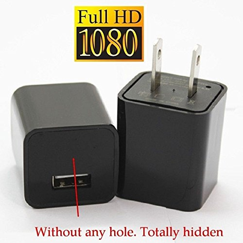 KSRplayer US Plug 1080P Mini AC adapter Charger Hidden Spy Camera Loop Video Record Motion Detect 8GB memory