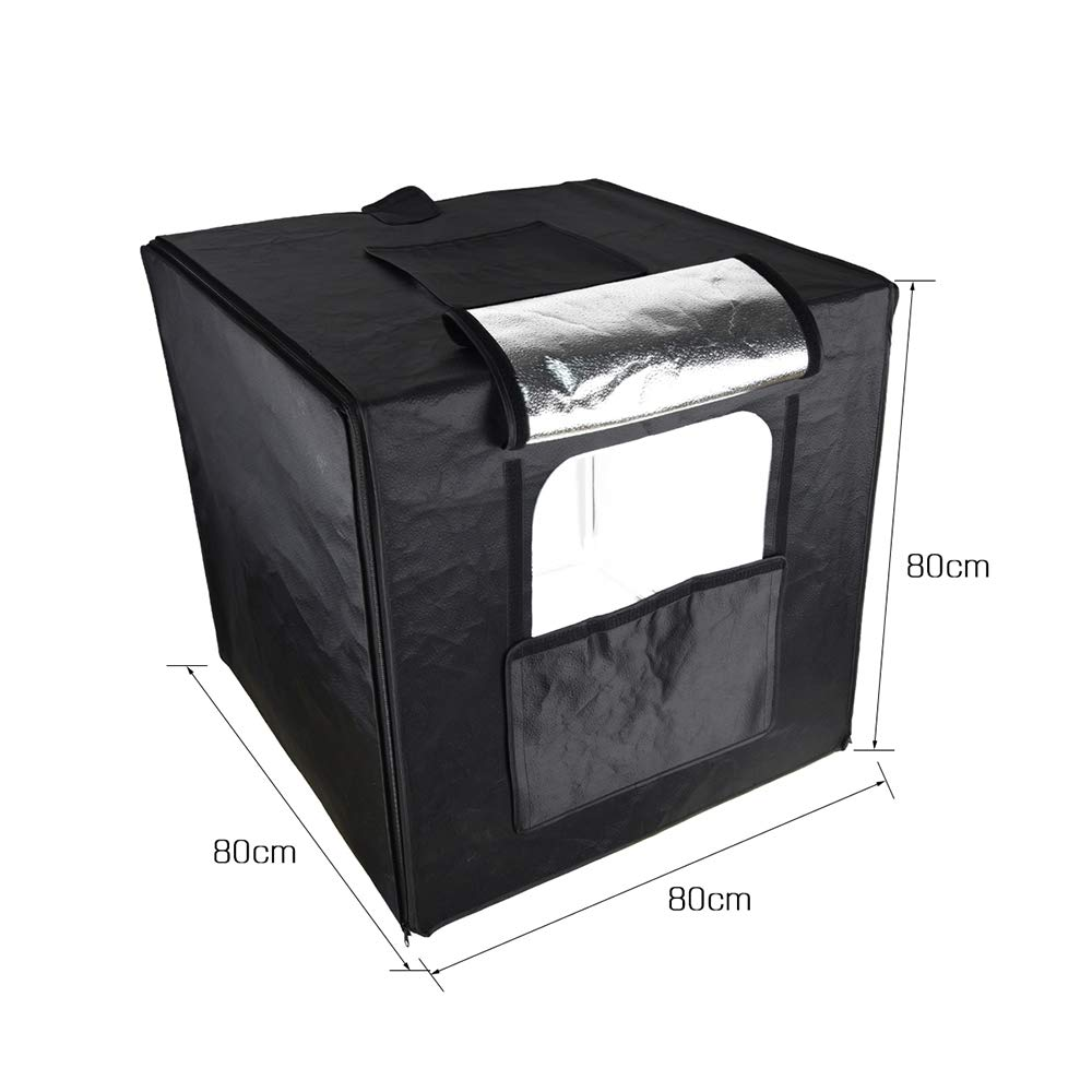 Godox LSD80 808080cm LED Mini Photography Studio Shooting Tent Softbox with 2pcs LED Light Board 5800K CRI 96+ Power 40W for Macro and Product Photography with Andoer Cleaning Cloth by Godox (Image #7)
