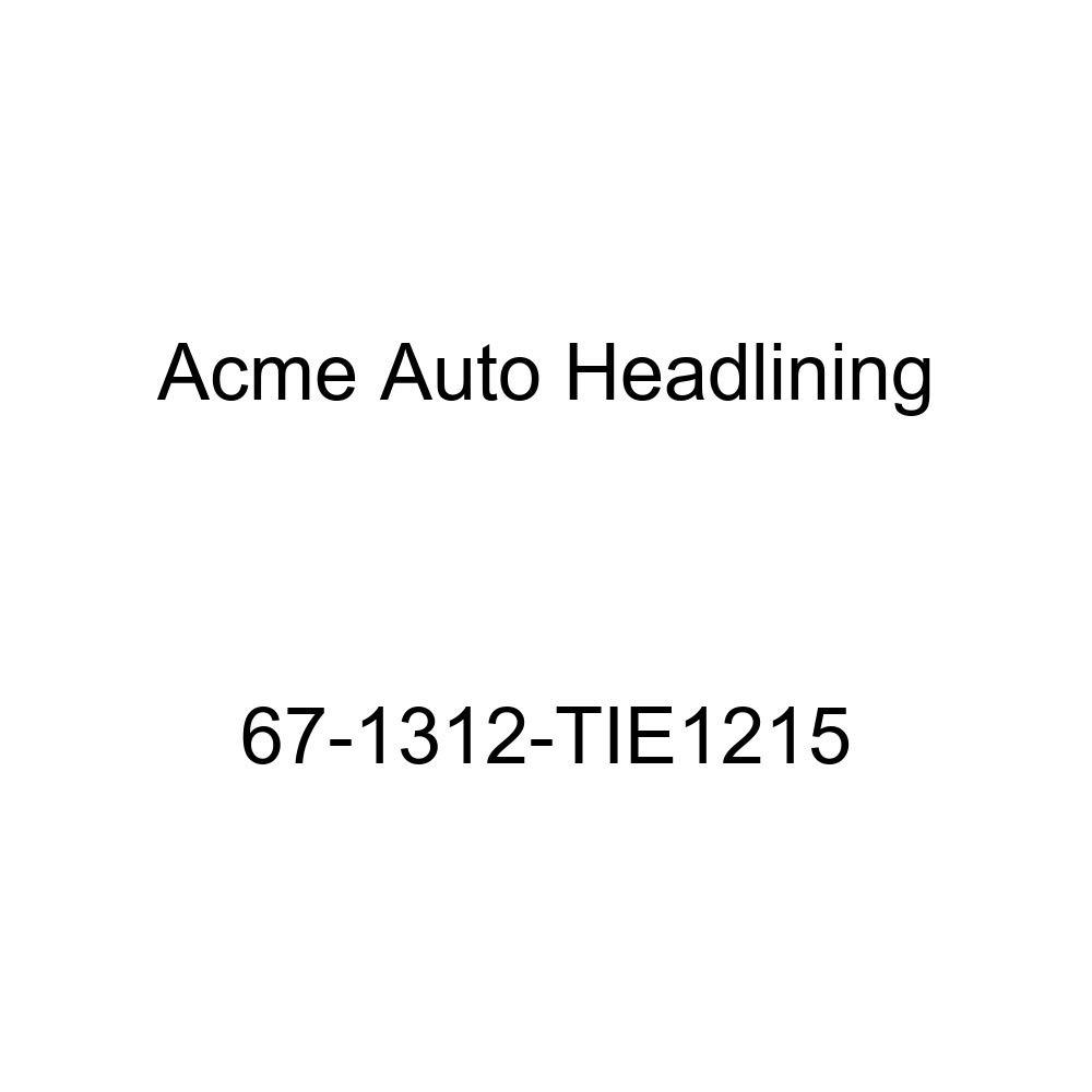 Acme Auto Headlining 67-1312-TIE1215 Turquoise Replacement Headliner Cadillac Eldorado 2 Door Hardtop 6 Bow