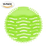 Urinal Screens Deodorizer Anti Splash Technology - Fits Most Top Urinal Brands at Restaurants, Office Building, Home, Schools, etc. (10-Pack, Green - Melon)