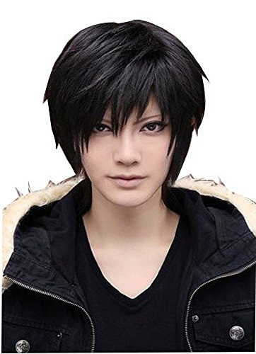 Mens short wig case options [morningplace] color (light brown) original presence, wind provisional wearing cosplay (Wig Brown Angel)