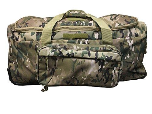 ca03df2450d5 Military Tactical Wheeled Deployment Trolley Duffel Bag Heavy-Duty Camping  Hiking Running Trekking (08360A Multicamo)